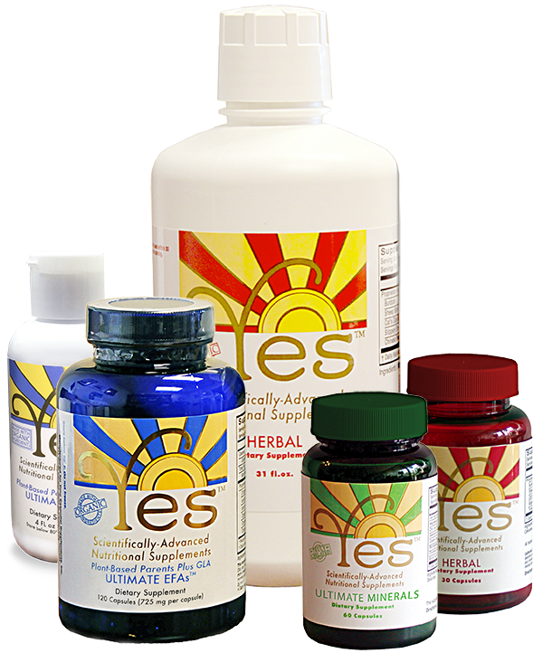 YES EFAs (capsules & liquid), Herbal (capsules & liquid), Minerals